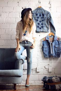 FashionCoolture - 18.11.2015 look du jour denim Gap Pandora bracelets (1)