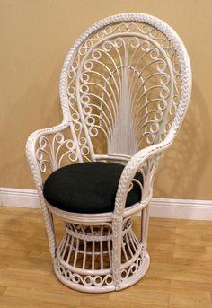 Hospitality Rattan Peacock Rattan Fabric Arm Chair