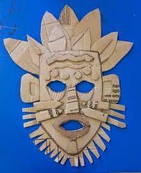 Картинки по запросу cardboard masks african