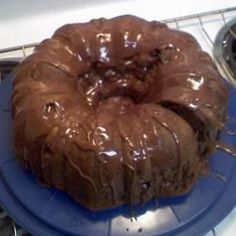 This cake is very easy, very rich, and very good!  You may substitute vanilla pudding for a less chocolaty cake, or substitute semi-sweet chocolate chips for a more intense chocolate flavor.