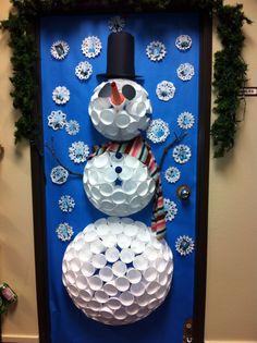 Cute Snowman Door!