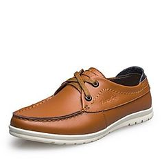 Men's Shoes Round Toe Flat Heel Leather Oxfords with Lace-up Shoes More Colors available