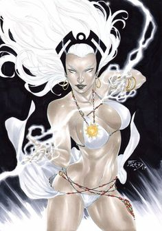 Storm from The X-Men and The Marvel Comic Universe. Marvel Dc Comics, Marvel Comic Universe, Comics Universe, Comic Book Characters, Marvel Characters, Comic Character, Comic Books Art, Comic Art, Character Design