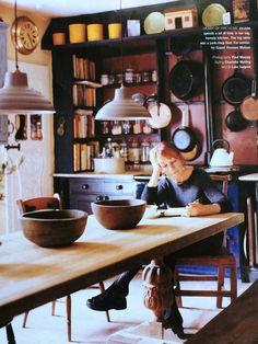 Jocasta Innes in her kitchen