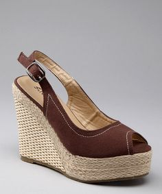 Take a look at this Brown Yacht Espadrille by Nomad Footwear on today! Warm Weather Outfits, Wedge Heels, Espadrilles, Take That, Footwear, Wedges, Pairs, Chic, Elegant