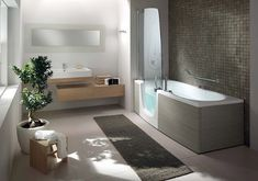 Beautiful bath and shower