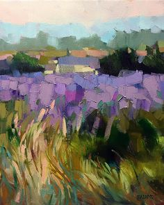 Tall Grass and Lavender Tall Grass & Lavender by Trisha Adams Oil ~ 20 x 16 Abstract Landscape Painting, Landscape Art, Landscape Paintings, Watercolor Paintings, Abstract Art, Oil Paintings, Landscape Design, Picasso Paintings, Watercolor Artists
