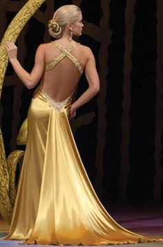 Still love this yellow gold gown...remember on Kate Hudson in movie How to Lose a Guy in 10 Days
