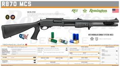 Remington Arms Company, LLC - R870 MODULAR COMBAT SYSTEM (MCS) Shotguns, Firearms, Military Brat, Tactical Shotgun, Hand To Hand Combat, Futuristic Art, Weapon Concept Art, Arsenal, Weapons