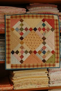 Little quilt- Serendipity Patch. Not a huge fan of Autumn colors, but love the pattern.