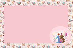 1 Ano Menina Ursinho - Kit Completo com molduras para convites, rótulos para guloseimas, lembrancinhas e imagens!
