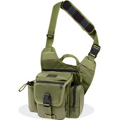 """Maxpedition Fatboy G.T.G. Versipack - OD Green - The Fatboy G.T.G Versipack is the #1 """"Go Bag"""" that can go everywhere with you. It is lightweight, durable and large enough to carry all your gadgets and toys. It even has a pocket for a water bottle. Get it at http://zuffel.com/collections/sling-bag/products/fatboy-g-t-g-versipack-od-green"""
