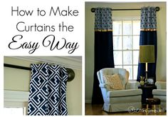 Learn how to make curtains ~ The Easy No-Sew Way! Follow this simple tutorial to make curtains that are totally customizable to your home decor!