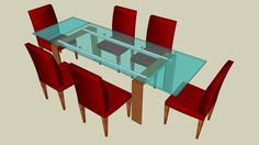 Dining Table with Chairs - Warehouse