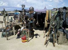 A great example of a vendor booth at Wasteland Weekend.
