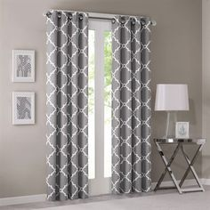 Refresh your room with the decorative fretwork window panel. The scroll geometric print is simple yet trendy, featuring a light grey ground with a ...