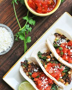 Beans and Greens Tacos on Udi's Gluten-Free Tortillas