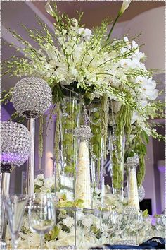 Tall Wedding Vases for Centerpieces | Tall Vase Centerpieces Wedding Low High Centerpiece - kootation.com