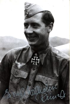 ✠ Ernst-Wilhelm Reinert (2 February 1919 – 5 September 2007) RK 01.07.1942 Unteroffizier Flugzeugführer i. d. II./JG 77 + 05.10.1942 [131. EL] Feldwebel Flugzeugführer i. d. II./JG 77 + 01.02.1945 [130. Sw] Oberleutnant Staffelkapitän 14./JG 27
