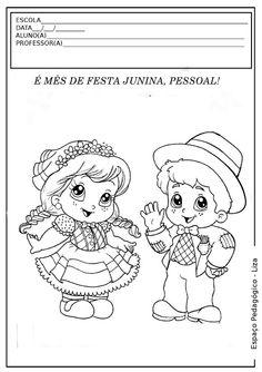 Espaço do Saber: Desenhos para imprimir e colorir Festa junina