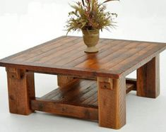 Barnwood Coffee Table Made From Solid Reclaimed Wood Beams - Woodland Creek Furniture by deirdre Barnwood Coffee Table, Coffee Table With Shelf, Rustic Coffee Tables, Wood Tables, Timber Table, Timber Wood, Rustic Table, Pallet Furniture, Rustic Furniture