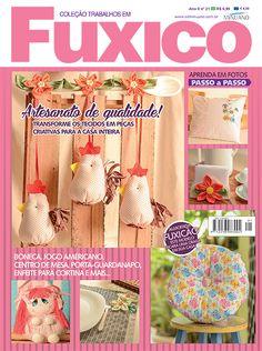 Artesanato - Tecidos : COL TRABALHOS EM FUXICO 021 - Editora Minuano