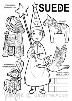 "iColor ""Little Kids Around The World"" ~ Sweden School Coloring Pages, Colouring Pages, Coloring Sheets, Adult Coloring, Coloring Books, Kids Around The World, Around The Worlds, Book Portfolio, Aubry"