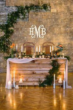 Wedding Ceremony Ideas, Barn Wedding Decorations, Wedding Table, Fall Wedding, Dream Wedding, Garland Wedding, Perfect Wedding, Best Wedding Ideas, Woods Wedding Ideas