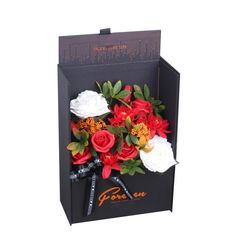 Adore Home Living - Luxury Soap Flowers Red Gift Box Artificial Flower Arrangements, Artificial Flowers, Perth, Bordeaux, Flowers Australia, Red Gift Box, Rose Bath, Luxury Soap, Home Living