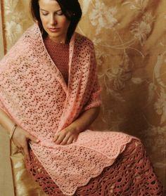 Crochet zig zag shawl pattern