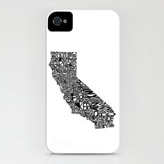 Typographic California  by CAPow!  iPhone Case / iPhone (4S, 4)    $35.00