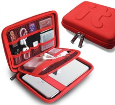 Amazon.com : Universal Travel Organizer/ Electronics Accessories Case / iPad Mini, Galaxy Tab Case/ Portable EVA Hard Drive Case / Cable Organiser/power Bank Case/usb Pouch/cable Stable/waterproof Bag (Large) : Office Products