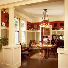 Wainscoting....love the color combo.