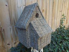 Vintage Large Birdhouse Wicker Birdhouse Wicker...   Wicker Furniture  wickerparadise.com