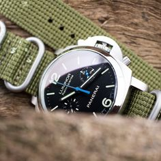 #MiLTAT 24mm 5 Rings G10 water repellent 3D Zulu on #panerai #luminor 1950 Rattrapante #PAM362 It needs this raincoat too #strapcode
