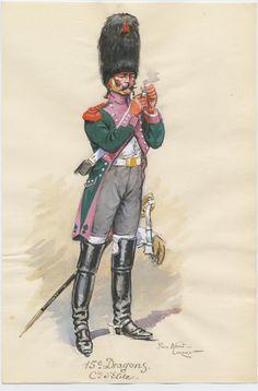 Dragone della Campania di élite del 15 rgt. dragoni, 1809