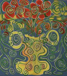 Flowers In the Pot/Maarit Korhonen, Acrylic, Oil Pastels, Oil Stick, Canvas, 73cm, 65cm Dark Paintings, Original Paintings, Stick Art, Autumn Painting, Original Art For Sale, Online Painting, Art Oil, Find Art, New Art