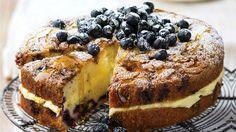 Citronovo-borůvkový koláč s borůvkovou drobenkou Foto: isifa.com