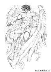 Angel sketch 01 by Felsus on DeviantArt Angel Wings Art, Angel Wings Drawing, Human Figure Drawing, Guy Drawing, Drawing Sketches, Drawings, Angel Sketch, Wings Sketch, Male Angels