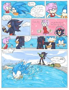 Sonic's Swimming Lession_Mini Comic by Ila-Mae on DeviantArt