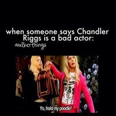 I will put down a fight if someone says Chandler is a bad actor. I'll just be like 'Fight Me!'