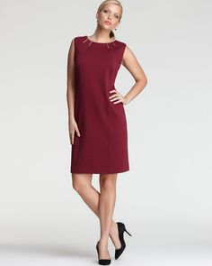 Calvin Klein Plus Dress with Hardware - New Arrivals - Plus Sizes - Plus Sizes - Bloomingdale's
