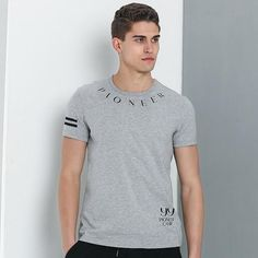 16356b6cd15 Pioneer Camp New fashion T shirt men brand-clothing letter printed T-shirt  male