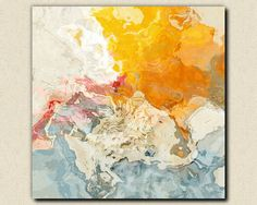 Abstract  art stretched canvas print 30x30 to by FinnellFineArt, $200.00