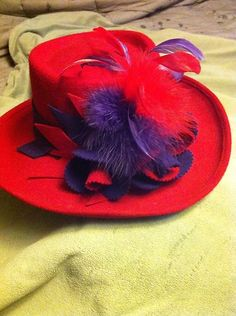 Red Hat Society beautiful red and purple hat