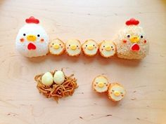 (161) Kawaii food and cute bento chicken riceballs and chick croquettes | にわとりおにぎり+ひよこコロッケ | Yum | Pinterest | Japanese Yummy ≧◡≦ | Pinterest