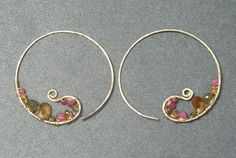 handmade-earrings.net - Cleopatra Hoops with Peridot, Mandarin Garnet, and Ruby Handmade Earrings, $93.95 (http://www.handmade-earrings.net/Cleopatra-Hoops-with-Peridot-Mandarin-Garnet-and-Ruby-Handmade-Earrings)
