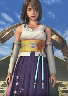 Yuna (Final Fantasy (c) 2001 Square Enix Yuna Final Fantasy, Final Fantasy Girls, Final Fantasy Characters, Final Fantasy Artwork, Fantasy Heroes, Fantasy Women, Yuna Cosplay, Costume Tutorial, Video Game Art