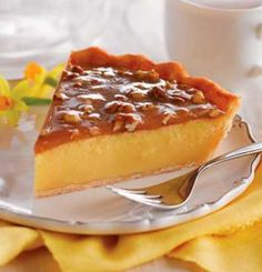 Recipe for Praline Custard Pie - After the feast, after round two, before the coma: Would you like a slice of pie?