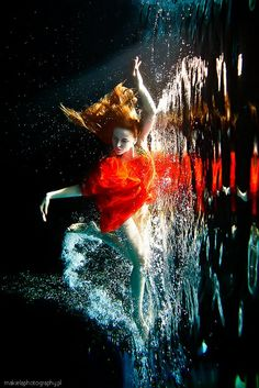 UnderWater by Zena Holloway so pretty! i love seeing how the water changes the outfit from what it is dry.